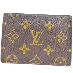ルイ・ヴィトン(Louis Vuitton) モノグラム ポルト2カルト ヴェルティカル M60533 レザー 定期入れ ブラウン