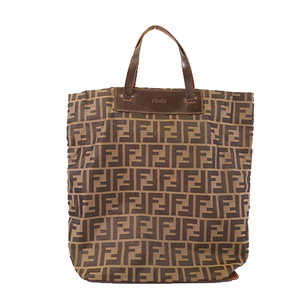 Fendi Zucca Tote Bag Women's Nylon Tote Bag Beige