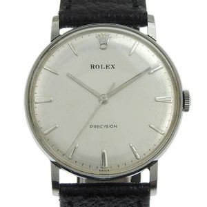ROLEX Precision Steel Hand-Winding Mens Watch 9829