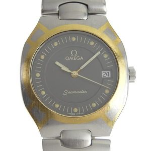 OMEGA Seamaster Polaris 18K Gold Steel Quartz Watch 396.1022