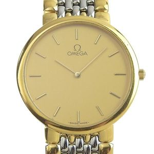 OMEGA De Ville Gold Plated Steel Quartz Mens Watch