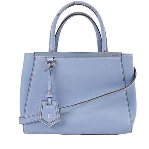 Fendi 2way Bag Women's Leather Handbag Shoulder Bag Blue