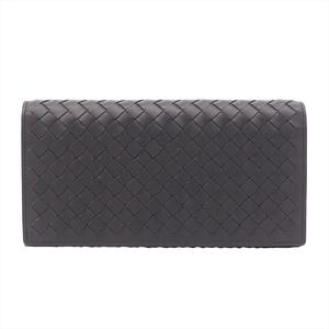 ボッテガ・ヴェネタ(Bottega Veneta) イントレチャート 156819 V4651 2040 メンズ  カーフスキン 長財布(二つ折り) ダークブラウン