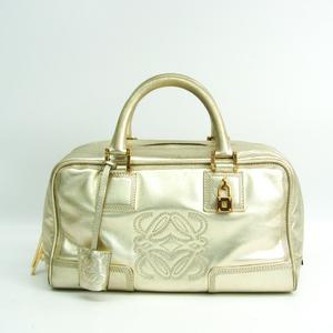 Loewe Amazona 28 Women's Leather Handbag Champagne Gold