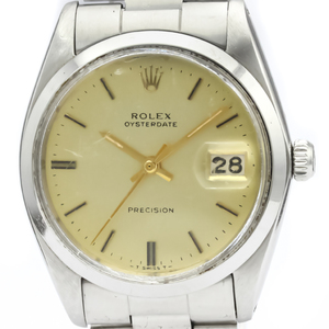 Rolex Mechanical Stainless Steel Men's Dress Watch 6694