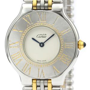 Cartier Must 21 Quartz Stainless Steel,Gold Plated Unisex Dress Watch