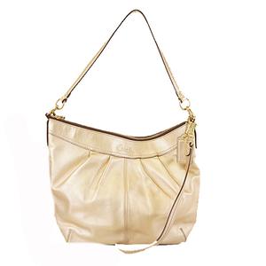 Auth Coach Soho 2way Bag F13936 Women's Leather Shoulder Bag Gold