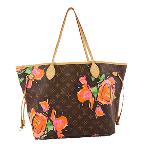 Auth Louis Vuitton Monogram Rose NeverFull MM M48613 Women's Tote Bag