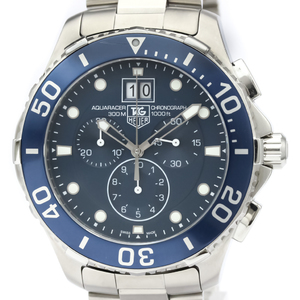TAG HEUER Aquaracer Grand Date Steel Quartz Mens Watch CAN1011