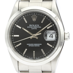 Rolex Oyster Perpetual Date Automatic Stainless Steel Men's Dress Watch 15200