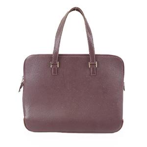 Auth Hermes Handbag □F Stamp Women's Leather Purple
