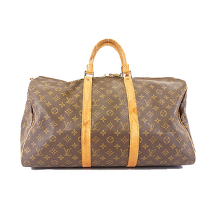Auth Louis Vuitton Monogram Keepall50 M41426 Men,Women,Unisex Boston Bag