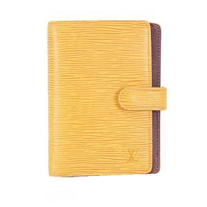 Auth Louis Vuitton Epi Agenda PM R20059 Planner Cover Jaune