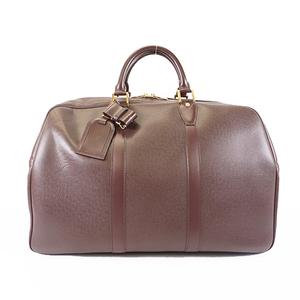Auth Louis Vuitton Taiga Kendall PM M30126 Men's Boston Bag Acajou