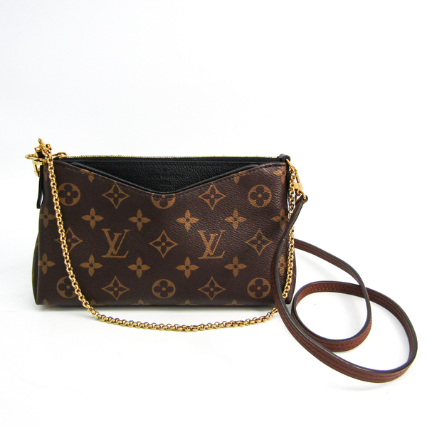 Louis Vuitton Monogram Pallas Clutch M41639 Women's Clutch Bag,Shoulder Bag Monogram,Noir