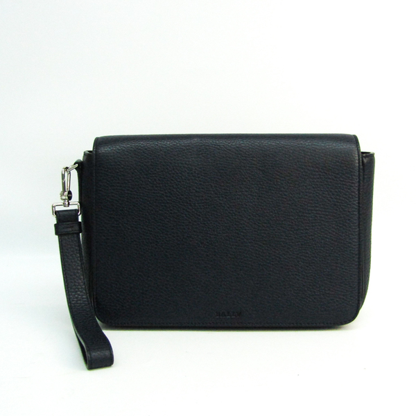Bally STEON Men's Leather Clutch Bag Navy