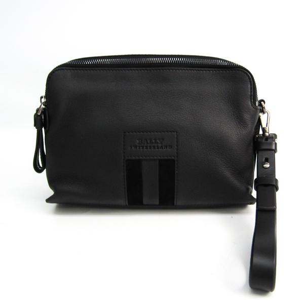 Bally BALET Men's Leather Clutch Bag Black
