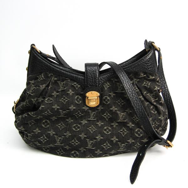 Louis Vuitton Monogram Denim XS M95608 Shoulder Bag Black