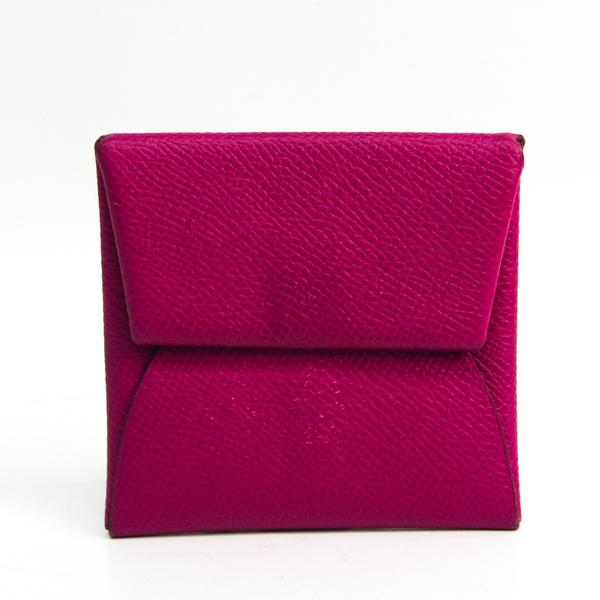 Hermes Bastia Women's Epsom Leather Coin Purse/coin Case Rose Purple