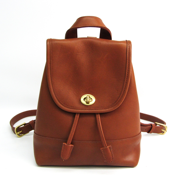Coach Old Coach 9960 Women's Leather Backpack Brown