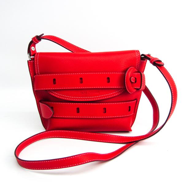 J&M Davidson THE BELT POUCH 1813N 7471 8140 Women's Leather Shoulder Bag Red Color
