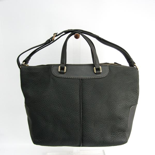 Tod's Leather Handbag,Shoulder Bag Dark Gray