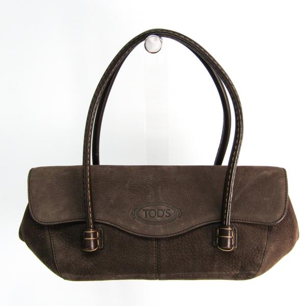 Tod's Women's Leather,Leather Handbag,Tote Bag Dark Brown