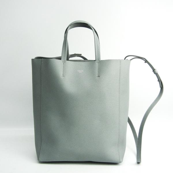 Celine Cabas Small Vertical Women's Leather Shoulder Bag,Tote Bag Light Blue Gray