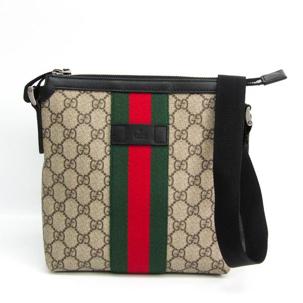 Gucci Flat 471454 Unisex GG Supreme,Leather Messenger Bag,Shoulder Bag Beige,Black,Brown,Green,Red Color