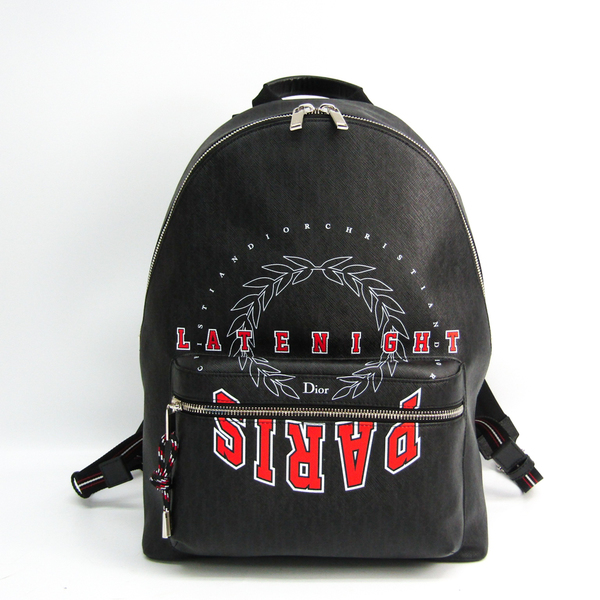 Dior Homme LATENIGHT 1LNBA071XX0-03EU Unisex PVC Backpack Black,Red Color,White