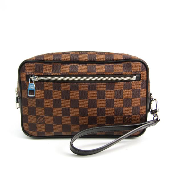 Louis Vuitton Damier Pochette Kasai N41663 Men's Clutch Bag Ebene