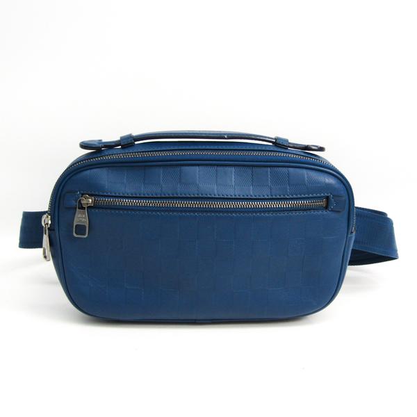 Louis Vuitton Damier Infini Ambler N41354 Men's Fanny Pack,Shoulder Bag Blue