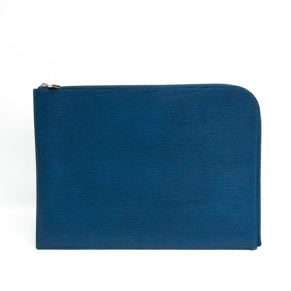 Louis Vuitton Epi Pochette Jules GM Men's Clutch Bag Bleu Celeste