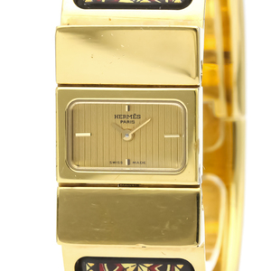 Hermes Loque Quartz Gold Plated Women's Dress Watch LO1.201