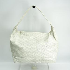 Goyard FIDJI Women's Leather,Coated Canvas Shoulder Bag White