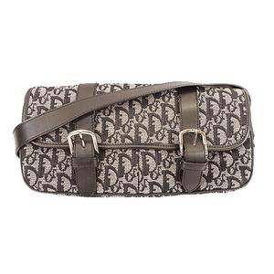 Christian Dior Trotter Women's Canvas Shoulder Bag Navy