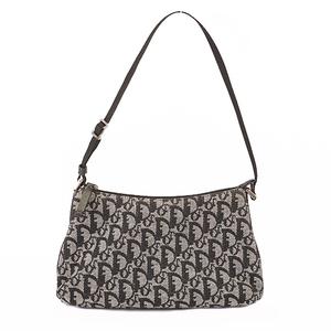 Christian Dior Trotter Handbag Women's Canvas Navy