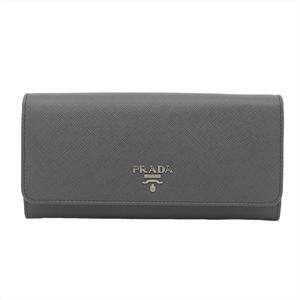 プラダ(Prada) 1MH132 レディース Saffiano 長財布(二つ折り) グレー