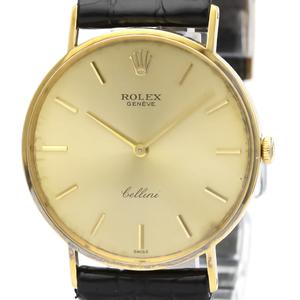 Rolex Cellini Mechanical Yellow Gold (18K) Men's Dress Watch 3833