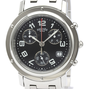HERMES Clipper Chronograph Quartz Mens Watch CL1.910