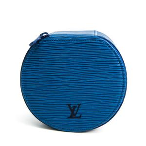 Louis Vuitton Epi Echlan Bijoux 12 M48205 Jewelry Case Toledo Blue Epi Leather