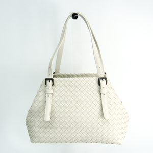 Bottega Veneta Intrecciato Chester Bag Women's Leather Tote Bag Off-white