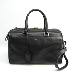Saint Laurent Classic Duffle 322049 Women's Leather Handbag,Shoulder Bag Black