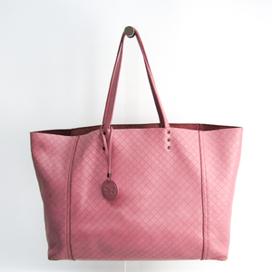 Bottega Veneta Intrecciomirage Women's Leather Tote Bag Light Purple