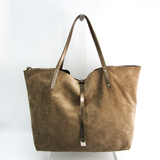 Tiffany Reversible Women's Leather,Suede Tote Bag Gold Brown
