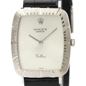 Rolex Cellini Mechanical White Gold (18K) Men's Dress Watch 4087