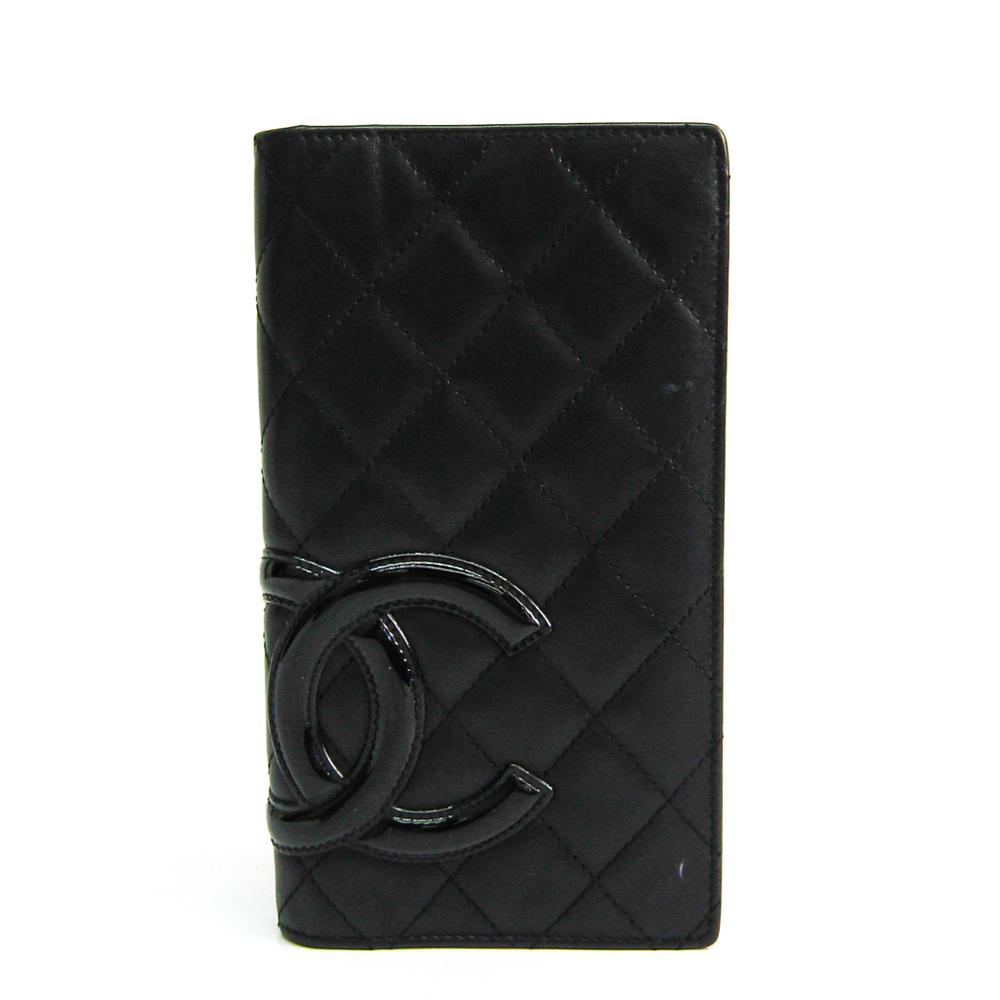 シャネル(Chanel) カンボン A26717 レディース  エナメルレザー 長財布(二つ折り) ブラック,ピンク