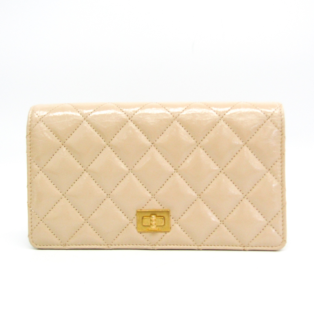 シャネル(Chanel) マトラッセ レディース レザー 長財布(二つ折り) ベージュ