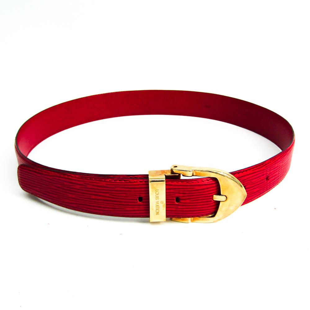 ルイ・ヴィトン(Louis Vuitton) エピ サンチュール・クラシック R15007 ユニセックス エピレザー ベルト ゴールド,レッド 110