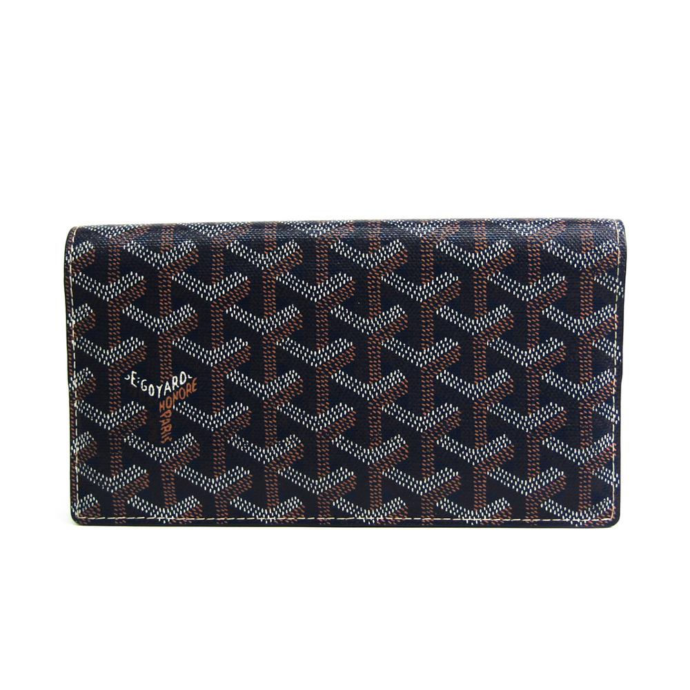 ゴヤール(Goyard) リシュリュー APM205 ユニセックス コーティングキャンバス,レザー 長財布(二つ折り) ネイビー